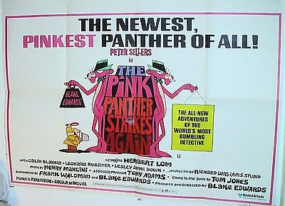 """PINK PANTHER STRIKES AGAIN P Sellers Orig 1976 UK Quad 30"""" x 40"""" FEBUARY *SALE*"""
