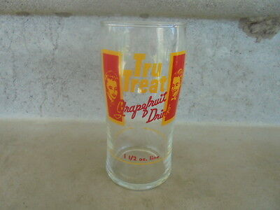 Vintage Acl Tru Treat  Grapefruit Drinking Glass Collectible Near Mint