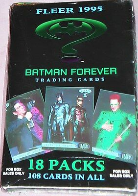 BATMAN FOREVER 18 Trading Card Packs MINT SEALED BOX Sales Only TOPPS USA 1995