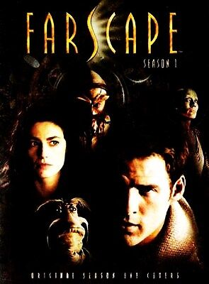 """FARSCAPE Original Season 1 Covers UK SET 10 POSTCARDS 5 1/4"""" by 7 1/4"""" IN COVER"""