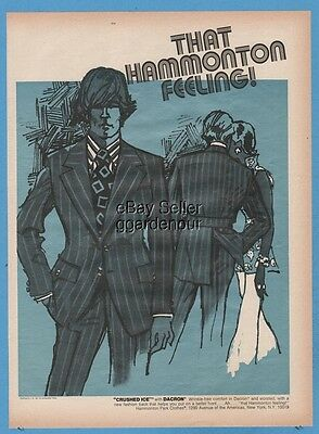 1971 Hammonton Park Clothes men's suit 1970's clothing fashion print photo ad