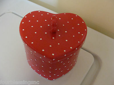 Heart-Shaped Ceramic Box-Formalities By Baum Bros. Dotted Swiss-Valentine Gift