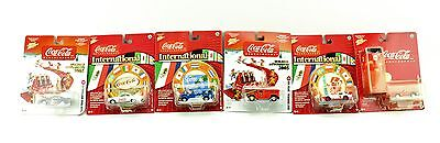 Lot Of 6 New Multi-Color JOHNNY LIGHTNING Coca Cola Diecast Cars