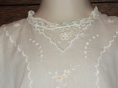DARLING Antique Edwardian Toddler Dress Batiste & Irish Crochet Lace Embroidery
