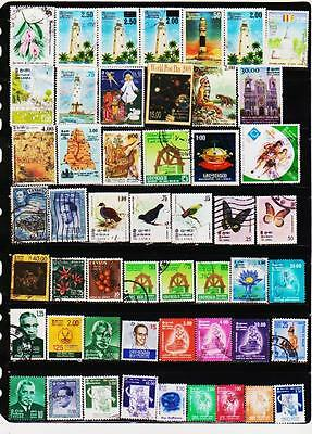 Sri Lanka 97 Different Used Stamps Collection Lot