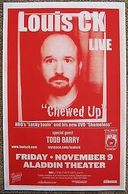 LOUIS CK / TODD BARRY 2007 Gig POSTER Comedy Portland Oregon