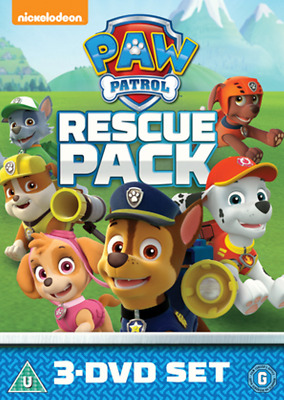Paw Patrol Rescue Pack 3 Disc New Region 4 DVD