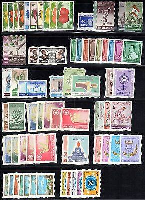 Lebanon 1955-78 Collection Of 25 Complete Mint Sets Includes S.g. 541-9, Lh