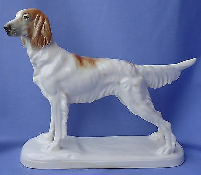 1930 Orange Belton English Setter Hunting Dog Germany Katzhutte 9""