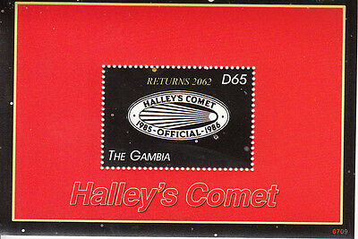 Gambia MNH Sc 3069 S/S Halley's Comet Value $ 5.00 US $$