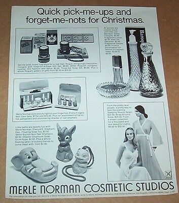 1972 print ad - Merle Norman Cosmetics nightgown soap Vintage Advertising Page