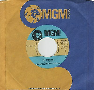 """""""7"""" - DAVID ROSE and his ORCHESTRA - The Stripper - US-Pressung"""