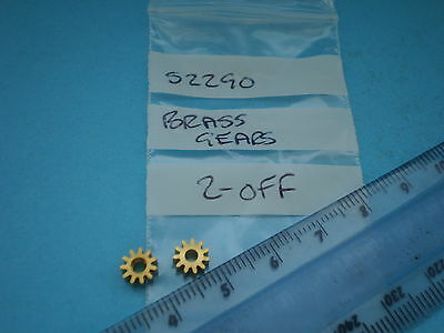 00 Hornby Spares.s2290 Brass Ringfield Gears 2 Off