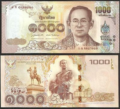 Thailand 1000 1,000 Baht, 2015/2016, P-New, Sign 85, UNC