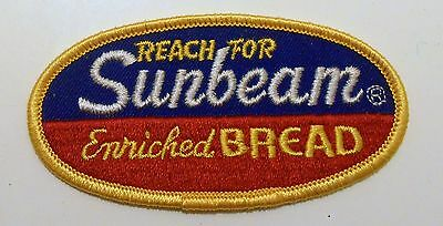 """Sunbeam Enriched Bread Vintage Patch Embroidered Ale 4"""" inch"""