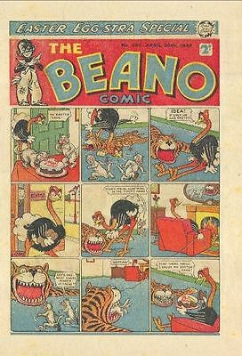 UK COMICS THE BEANO 300+ HUMOUR COMICS FROM 1940s 1950s and 1960s ON DVD