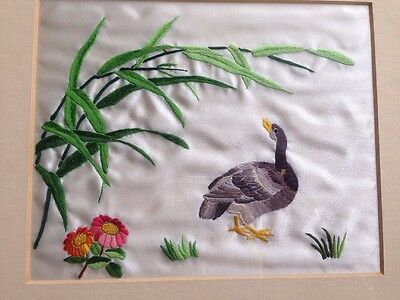 Antique Chinese Silk Embroidery Framed