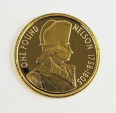 ADMIRAL LORD NELSON 24ct GOLD COIN 2005 ALDERNEY POUND