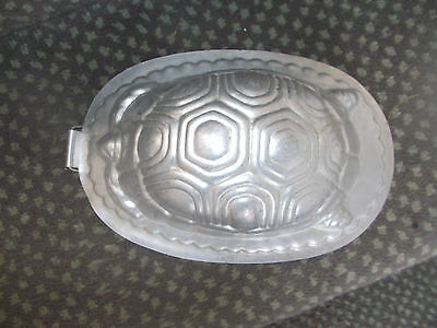 Rare Vintage Aluminium Tortoise Jelly Mould Made in England Birthday Tea Party