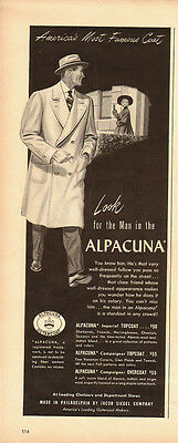 1950's Vintage ad for ALPACUNA Coats/Jacob Siegel Comp. (080813)