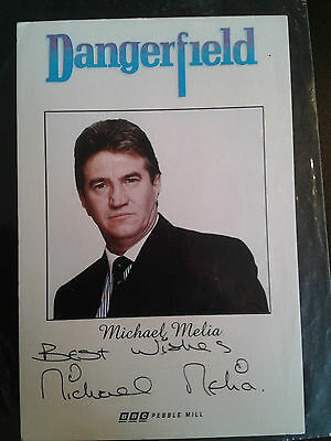Michael Melia ( Dangerfield ) Hand Signed Photo Card