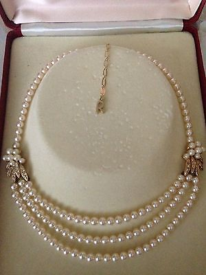 Vintage ROSITA Choker Pearl and Crystal Rhinestone Necklace - Original Box