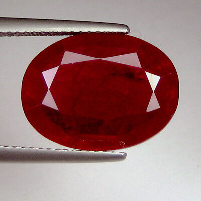 15.20 Ct. PIGEON BLOOD RED RUBY OVAL GEM