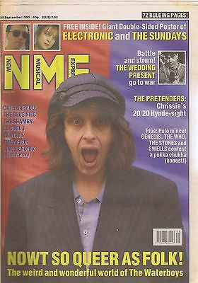 WATERBOYS NME + GIANT ELECTRONIC / SUNDAYS POSTER 29 Sep 1990
