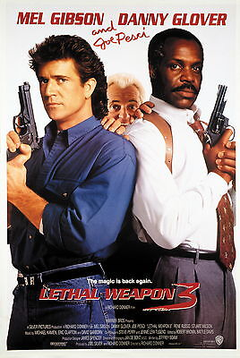 Lethal Weapon 3 Laminated Mini Movie Poster A4 Print Mel Gibson