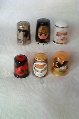Mixed Lot Of Thimbles.  Wood/brass/china All Listed Below