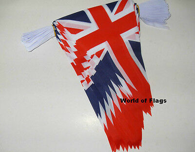 20m UNION JACK BUNTING UK Flag British Great Britain 54 Pennant Triangle Flags