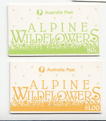 """1986 Alpine flowers  Booklets (2)  80c  & $1  CTO """"used"""""""