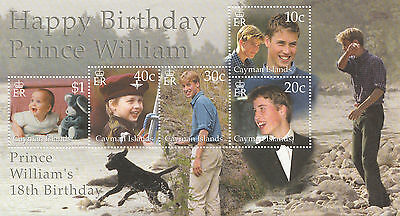 CAYMAN ISLANDS  Minisheet for Birthday Prince William  MNH