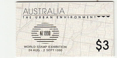 1989 Urban Environment Booklets  mint with gold NZ Exhib,logo