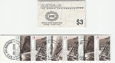 """1989 Urban Environment Booklets CTO """"used"""" + mint with gold NZ Exhib,logo"""