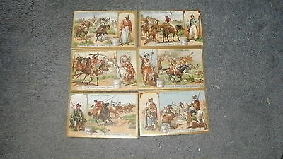 Liebig Cavaliers 1903 set of 6 (French Ref 725?)
