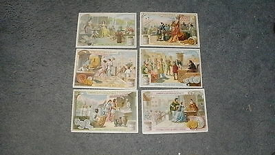 Liebig L'Argent A Differentes Epoques 1908 set of 6 (French)