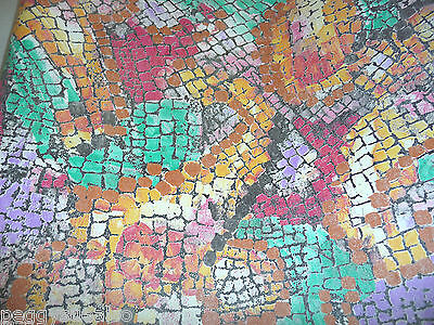 """8""""x10"""" Jewel Tones Cobblestone pattern cowhide leather PeggySueAlso scrap piece"""