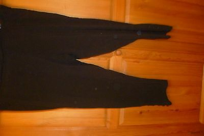 Womens black leggings with button detail size 24