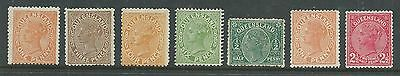 Queensland Yr.1900. Set Ofseven.unused Mh.