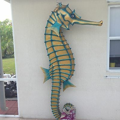 Nautical Seahorse Statue Decoration Indoor Outdoor Pool Bar Home Restaurant