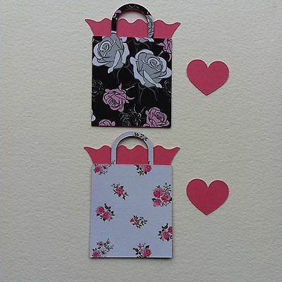 8 X Layered Gift Bag Style Die Cut Shapes-Floral Birthday Gift Female