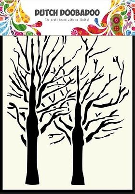 A6 Dutch Doobadoo Mask - Trees - Stencil - Embossing - 003 - New