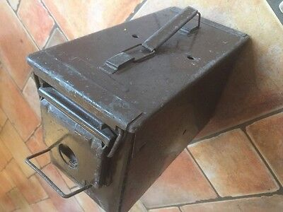 Vintage 70's Army Ammo Ammunition Metal Strong Box