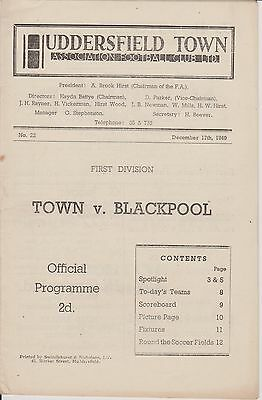 HUDDERSFIELD TOWN v BLACKPOOL 49-50 LEAGUE MATCH