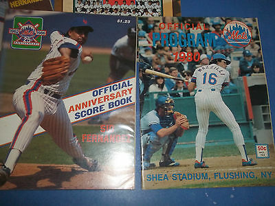 New York Mets Lot Of 4 Official Game Programs................1980-1998