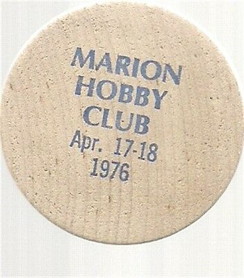 Wooden Nickel, Oh, Marion Hobby Club, Ohio, 1976