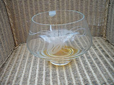 Dartington Crystal  Handmade Bowl etched 50 on front Ideal 50 wedding annivesary