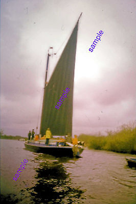 "Norfolk Broads Wherry ""albion"" 1970 Under Full Sail,outstanding View Of Her"