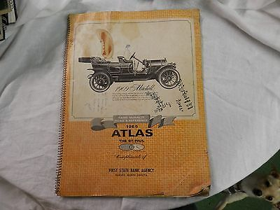 1966 Rand McNally atlas united states map road & reference first bank harvey ND